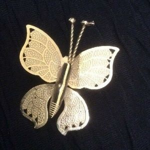 Brooch Pin Gold Colored Butterfly